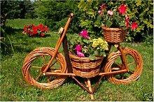 Fahrrad, Motorrad aus Korbgeflecht, 70 cm, Rattan,