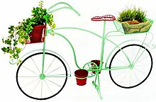 Fahrrad / Pflanz-Fahrrad Metall Rot/Grün 92cm x
