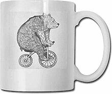 Fahrrad-Porzellan-Becher für Kaffee-Zirkus