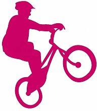 Fahrrad-Trial Aufkleber Trailbiker in 8 Größen und 25 Farben (35x40cm pink)