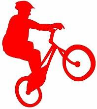 Fahrrad-Trial Aufkleber Trailbiker in 8 Größen und 25 Farben (44x50cm hellrot)