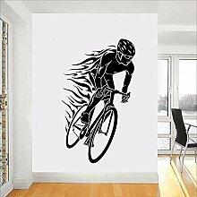 Fahrrad Wandtattoos Biker PVC Wandtattoos