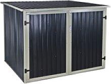 Fahrradgarage aus Metall 4 Fahrräder eBike Garage