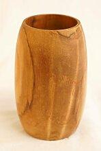 Fair & Fine | Cup Safia braun Holz 12x12 cm |