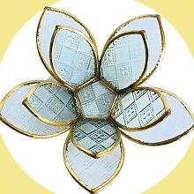 Fair & Fine   Teelichthalter Lotusblume weiß Glas