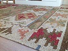 Fair Trade Bikaner (Geometrische Wolle Kelim