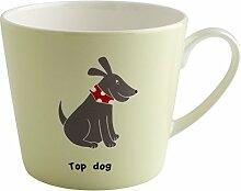Fairmont & Main Becher Katzen und Hunde–Top Dog, Bone China, grün