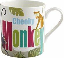 Fairmont & Main Becher Safari–Cheeky Monkey, Bone China, mehrfarbig