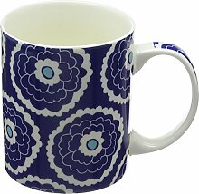 Fairmont & Main Floral China Becher, Bone China Porzellan, Blau