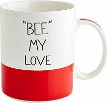 Fairmont & Main Kaffee Morning Bee My Love China Becher, Bone China Porzellan, Ro