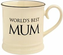 Fairmont & Main Quips and Quotes Becher World's Best Mum, cremefarben