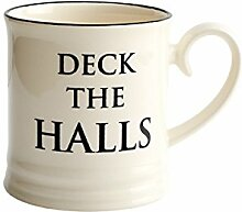 Fairmont & Main Quips & Quotes–Bierkrug–Tasse–Deck The Halls, cremefarben