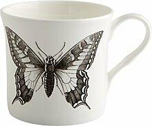 Fairmont & Main Wildlife–Butterfly Becher, Bone China Porzellan, weiß