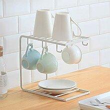 FairOnly Eisenregal für Küche Kaffeetasse