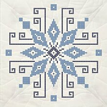 Fairway Stamped Quilt Blocks Cross Stich Wheel