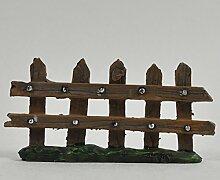 Fairy Garden UK Mini Holz Zaun Garten Miniatur Home Decor–Elfe Pixie Hobbit Zauberhafte Geschenkidee–Länge: 10cm
