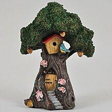 Fairy Garden UK Tree House Bird Garten Miniatur Home Decor–Elfe Fee Pixie Hobbit Zauberhafte Geschenkidee–Höhe: 15cm