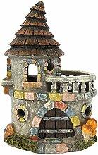 Fairy Light Up Fairy House Fairy für Gärten–Fairy Castle mit Balkon