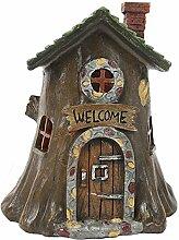 Fairy Light Up Fairy House Fairy für Gärten–Welcome Baumstumpf