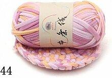 Fairy shop Farbe Gewebtes Garn Garn Gehäkelte DIY 100G Baumwolle Gestrickt Wolldecke Hand - 5 Stücke, 44 Geweb