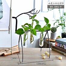 Fairy shop Hängende Vase Flasche Mit Glas Vase Flasche Für Blume Pflanze Terrarium Hydroponic Kübelpflanze Bonsai Blumenvase Stand, 3 Flasche