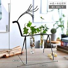 Fairy shop Hängende Vase Flasche Mit Glas Vase Flasche Für Blume Pflanze Terrarium Hydroponic Kübelpflanze Bonsai Blumenvase Stand, 2 Flasche