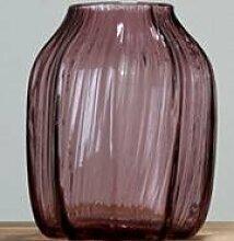 Fairy shop Vase Vertikale Streifen Farbigen, Transparenten Glas Hydroponics Vase/Heimtextilien Floralen Ornamenten S, Lila