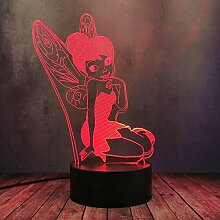 Fairy Tinker Bell Prinzessin Figur LED Nachtlicht