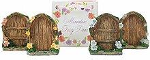 Fairy Tür Mini Fairy Türen in einem Geschenk BAG ideal Geschenk-Set von 4