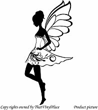 Fairy Wandtattoo/Wandaufkleber 60 cm x 28 cm, erhältlich in 18 Farben, Kinder Zimmer, Schlafzimmer, Vinyl Aufkleber, Fenster und Wand Aufkleber, Wand Windows-Art Wandaufkleber aus Vinyl, ThatVinylPlace Aufkleber, Dekoration