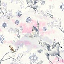 Fairytale Einhorn Tapete–Lila–Arthouse 667801