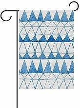 FAJRO Abstrakte Azurblau Dreiecksflagge