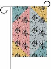 FAJRO Abstrakte Weihnachtsbälle Muster Flagge