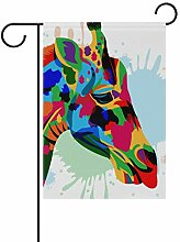 FAJRO Art Giraffe Hofflaggen Garten Flagge für