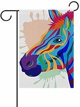 FAJRO Art Zebra Hof Flaggen Garten Flagge für
