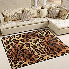 FAJRO attraktiver Leopardenmuster Teppich für