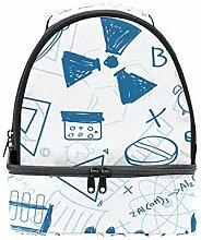 FAJRO Brottasche mit Schul-Symbol, Lunch-Organizer