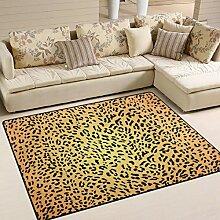 FAJRO Exquisite Leopardenmuster Teppich für
