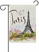 FAJRO Flagge Paris Eiffelturm Muster Flagge