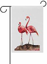 FAJRO Flamingo-Flaggen für Garten und Zuhause,