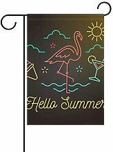 FAJRO Flamingo Hofflaggen Garten Flagge für