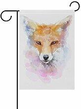 FAJRO Fox Malerei Hofflaggen Garten Flagge für