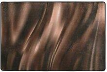 FAJRO Fußmatte aus cremefarbener Seide und