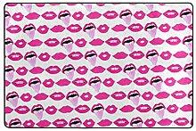 FAJRO Fußmatte/Fußabtreter, mit sexy Lippen und