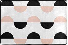 FAJRO Fußmatte/Fußmatte aus Polyester, halbrund,