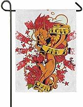 FAJRO Garten-Flagge mit Drachen-Motiv,