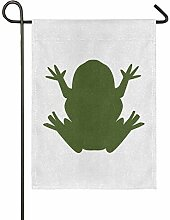 FAJRO Garten-Flagge mit fattem Frosch,
