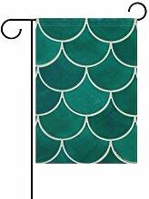 FAJRO Garten-Flagge mit Fischschuppen,