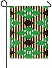 FAJRO Garten-Flagge mit Schottenkaro,