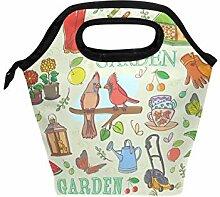 FAJRO Garten-Set mit Muster, Lunchbox, Lunchtasche